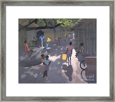 Fan Seller Framed Print by Andrew Macara