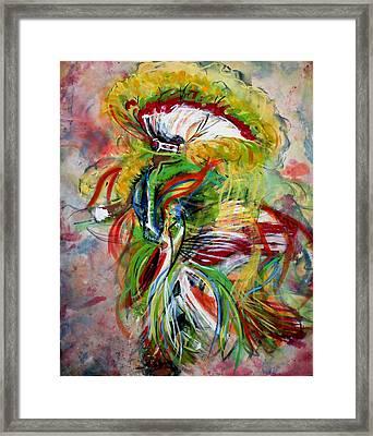 fancy Dancer II Framed Print by Christine Chzasz
