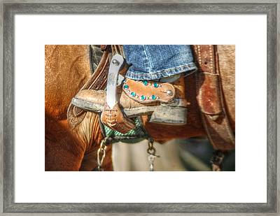 Fancy Horse Tack At A Show Framed Print by Jennifer Holcombe
