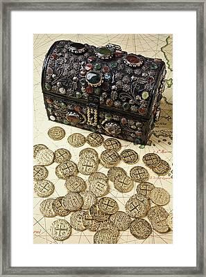 Fancy Treasure Chest  Framed Print by Garry Gay
