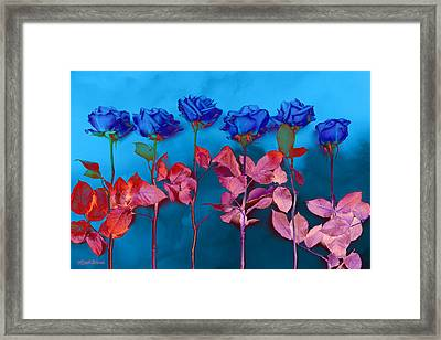 Fantasy Blues Framed Print by Michelle Wiarda