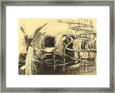 Fantasy In Monotone Framed Print by Emilio Lovisa
