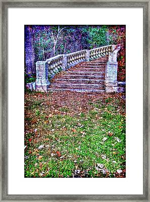 Fantasy Stairway Framed Print by Olivier Le Queinec
