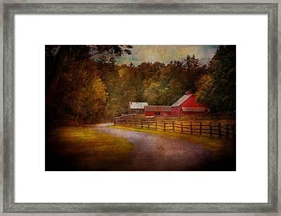 Farm - Barn - Rural Journeys  Framed Print by Mike Savad