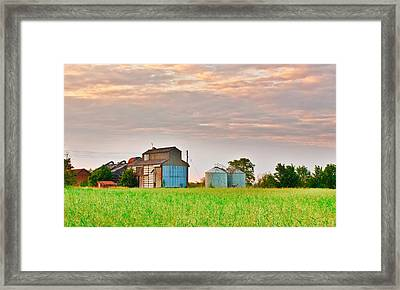 Farm Buildings Framed Print by Tom Gowanlock