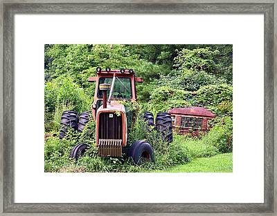 Farm Equipment Framed Print by Susan Leggett