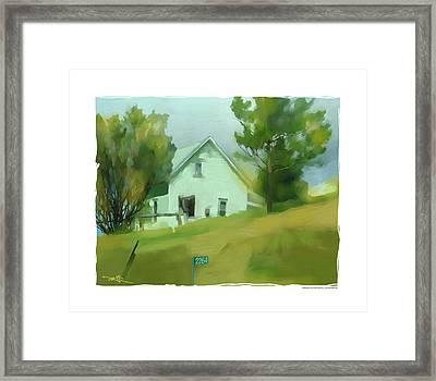Farm House In Lucknow Ontario Framed Print by Bob Salo