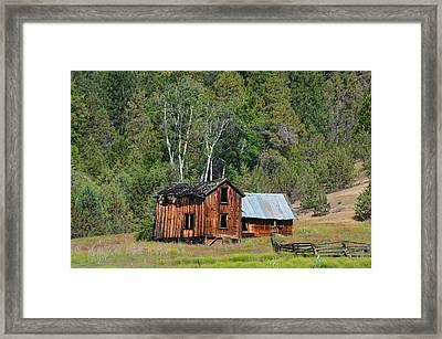 Farm House Framed Print by Melissa  Maderos