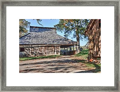Farm Scene At Booker T. Washington National Monument Park Framed Print by James Woody