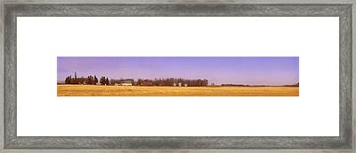 Farm Scene North Of Calgary, Alberta Framed Print by Corey Hochachka