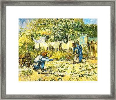 Farm Scene Framed Print by Sumit Mehndiratta