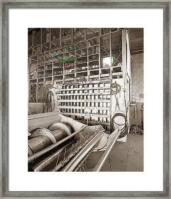 Farm Store Signs Hand-colored Framed Print by Jan Faul