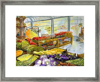Farmer's Market In Fort Worth Texas Framed Print by Barbara Pommerenke