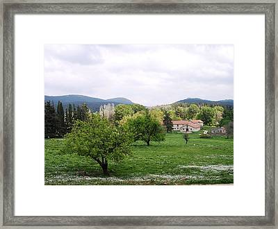 Farmhouses Framed Print by Constantinos Charalampopoulos