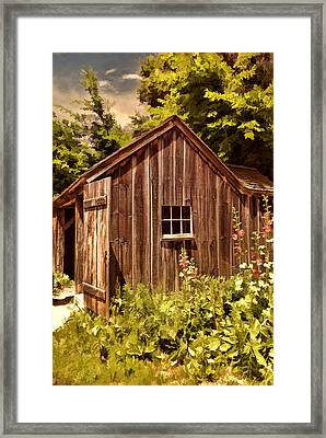 Farming Shed Framed Print by Lourry Legarde