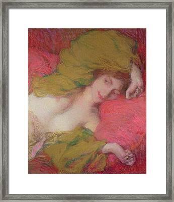 Farniente Framed Print by Edmond-Francois Aman-Jean