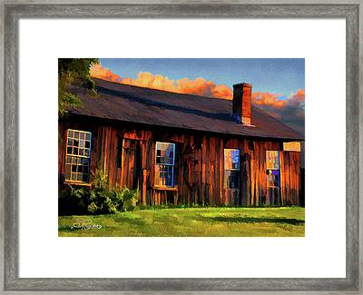 Farrier's Shed Framed Print by Suni Roveto