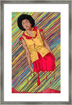 Fashion Abstraction De Fella Framed Print by Kenal Louis