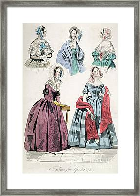 Fashion Print Framed Print by Granger