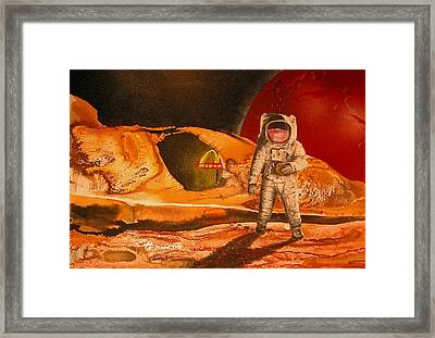 Fast Food In Outer Space Framed Print by Rhodes Rumsey