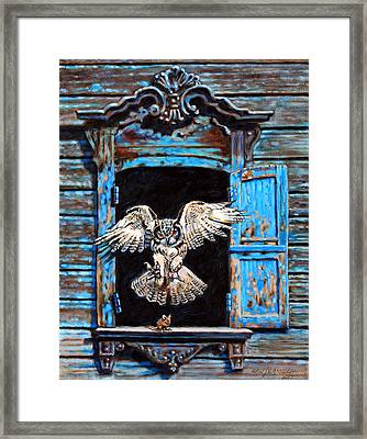 Fast Food Window Framed Print by John Lautermilch