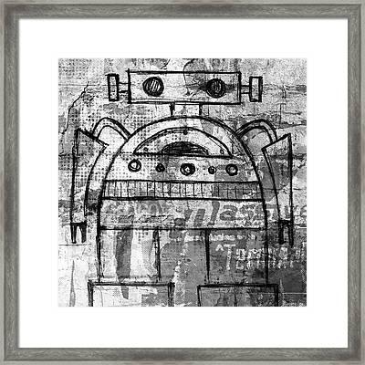 Fat-bot Framed Print by Roseanne Jones