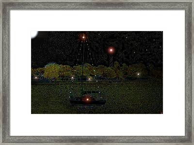 Fat Moon Bay Framed Print by David Lee Thompson