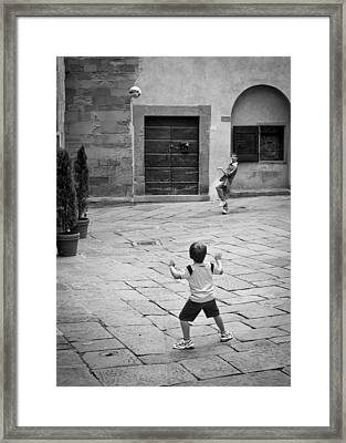 Father And Son Framed Print by Michael Avory