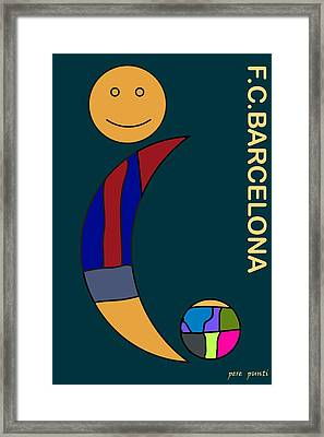 F.c.barcelona V.8 Framed Print by Pere Punti