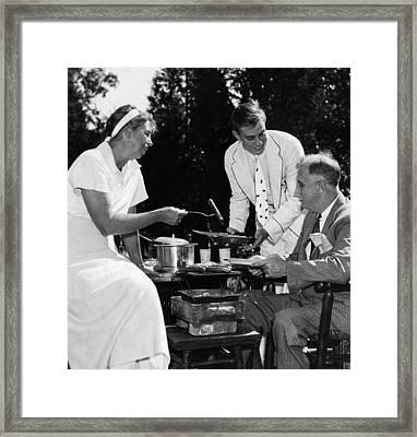 Fdr Presdidency. First Lady Eleanor Framed Print by Everett