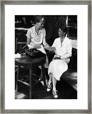 Fdr Presidency. Daughter Of First Lady Framed Print by Everett