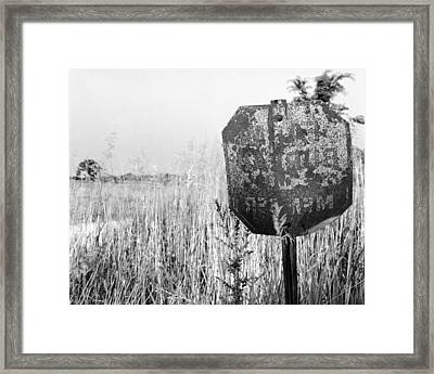 Feed Sign Framed Print by Jan W Faul