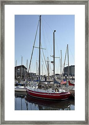 Fells Point Boatyard Framed Print by Brendan Reals