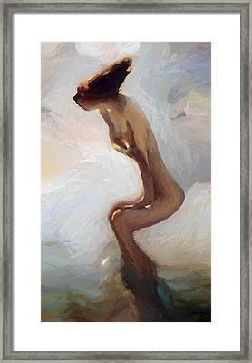 Female Motion Framed Print by Stefan Kuhn