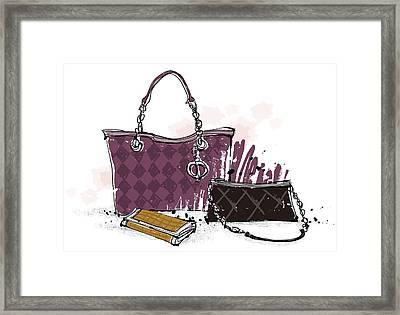 Feminine Bags Framed Print by Eastnine Inc.