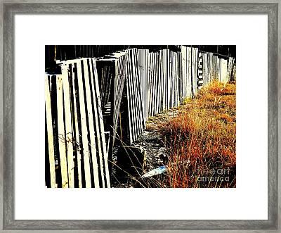 Fence Abstract Framed Print by Joe Jake Pratt