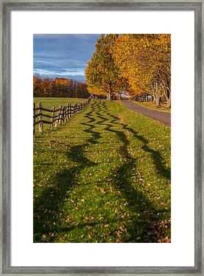 Fence Framed Print by Guy Whiteley
