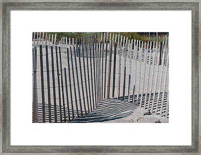 Fence Patterns II Framed Print by Andrea Simon