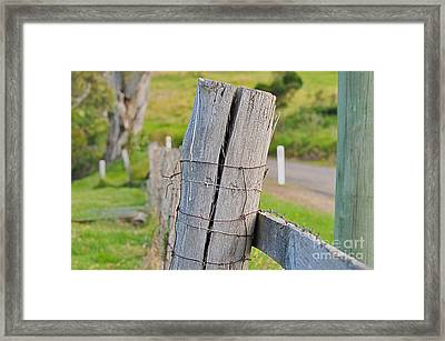 Fence Post Framed Print by Joanne Kocwin