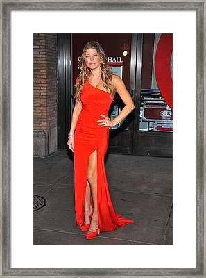 Fergie Wearing Zac Posen Gown Framed Print by Everett