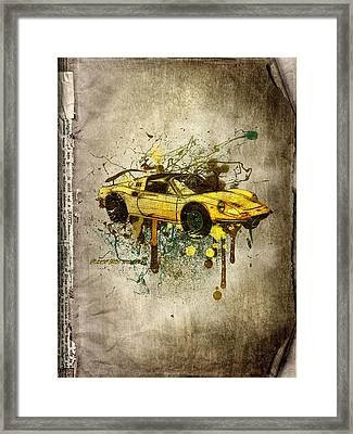 Ferrari Dino 246 Gts Framed Print by Svetlana Sewell