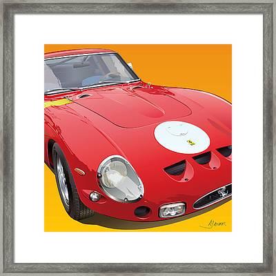 Ferrari Gto Detail Framed Print by Alain Jamar
