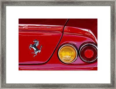 Ferrari Taillight Emblem 2 Framed Print by Jill Reger