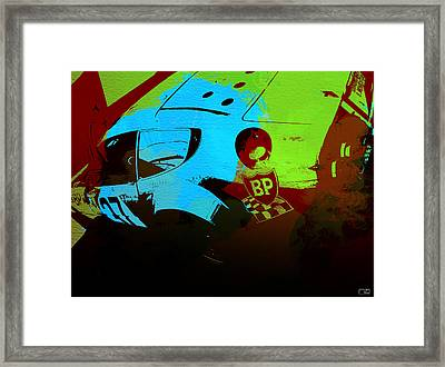 Ferrari  Watercolors Framed Print by Naxart Studio