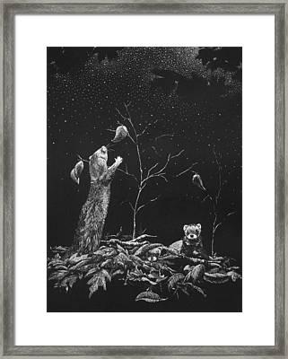 Ferret Dreams Framed Print by Linda Creapeau