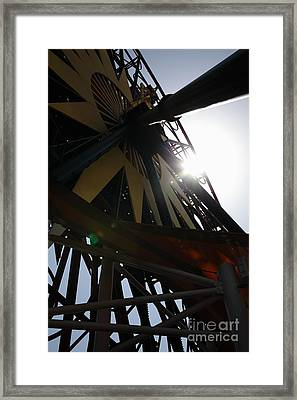 Ferris Wheel - 5d17616 Framed Print by Wingsdomain Art and Photography