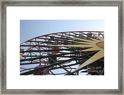 Ferris Wheel - 5d17620 Framed Print by Wingsdomain Art and Photography