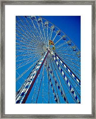 Ferris Wheel - Nuremberg  Framed Print by Juergen Weiss