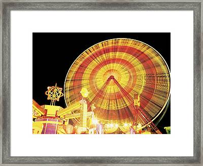 Ferris Wheel And Other Rides, Derry Framed Print by The Irish Image Collection