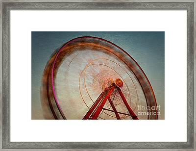 Ferris Wheel Ix Framed Print by Clarence Holmes